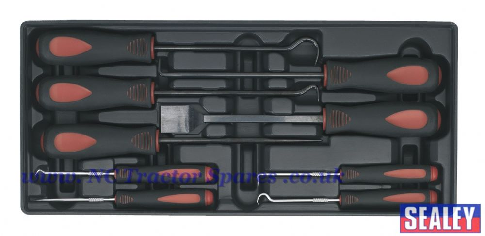 Tool Tray with Scraper & Hook Set 9pc